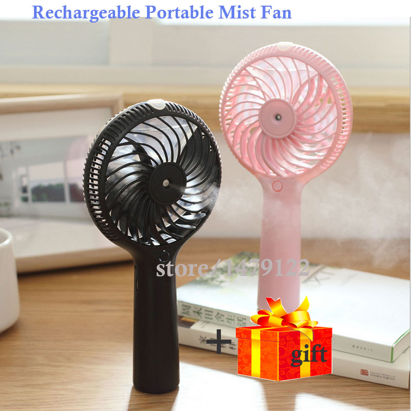 Handhold FanLatest Rechargeable mini fan cold water Humidification handheld fan mini humidifier as air conditioning Best Gifts<br>