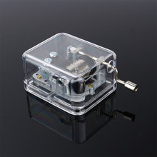 Creative 18 Notes Movement Acrylic Windup Movement Set Musical Box 5 Melody Music Box  for Wedding Party Decor
