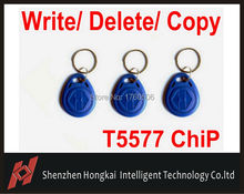 Free shipping (100PCS/Lot) Re_Writable LF/125Khz Smart RFID T5567/T5557/T5577 Cards / Tags / Keyfobs