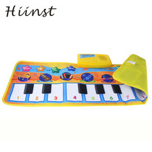 Toy New 80*28CM Touch Play Keyboard Musical Music Singing Gym Carpet Mat Best Kids Baby Gift Education Developmental 17Aug30(China)