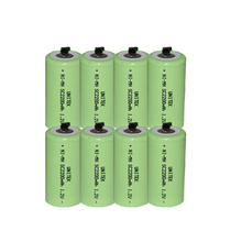 8PCS UNITEK Sub C sc 1.2V rechargeable battery 2200mah ni-mh nimh cell with welding tab pins for power tools,vacuum cleaner