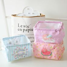 Creative Cartoon Figures Cinnamoroll Little Twin Stars Kanahei Desk Storage Box Holder Jewelry Cosmetic Stationery doll(China)