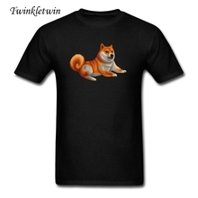 New Adults Shiba Inu Tshirt 2017 Summer Fashion Man O Neck Short Sleeves Custom Tee Shirt Men Leisure T-shirt Big Size XXXL