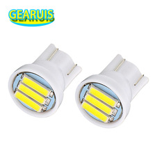 100X T10 3 SMD 7014 LED 3SMD 7020 1W White Blue Red Green Yellow W5W LED Wedge License Plate Light Lamp Car Light Source 12V DC(China)