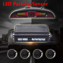 Universal LED Parking Sensor Kit Display Buzzing Sound Car Parking Assistance Reverse Backup Radar Monitor System 4 Sensors