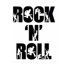 11cm*14cm Creative Fashion Rock N Roll Personalized Music Car Stickers C5-1681
