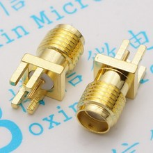 SMA SMA-KHD partial foot 1.6 MM spacing outside screw hole SMA-KE inner hole of the radio frequency The antenna seat 5pcs/lot