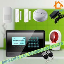 New Intelligent Smart Home Alarme Touch Keypad Burglar GSM SMS Alarm Security System