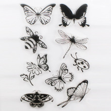 CCINEE Butterfly Style One Sheet Stamp VASE Design Seal For DIY Scrapbooking/Card Making/ Decoration Supplies