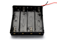 Free ship 18650 lithium battery case 4 with a line of four sections 18650 battery box (2pcs / lot)