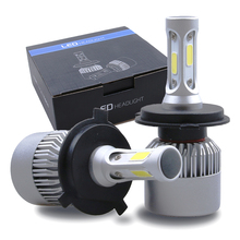 Car light COB Chip H4 H13 9004 9007 Hi-lo Beam H7 9005 HB3 9006 HB4 H11 H9 H1 H3 9012 Auto LED Headlight Bulb 8000lm 12V 6500k(China)
