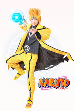 Free Shipping Naruto Uzumaki Naruto Nine-Tails Bijuu SIx Paths Mode Anime Cosplay Costume/Cosplay Wig/Shoes
