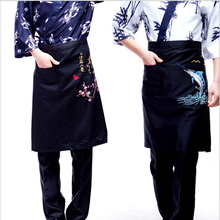 2016 New Hot Women Men Apron Cotton Korean Waiter Chef Aprons Restaurant Kitchen Cooking Art Work Apron With Pockets
