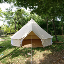 Size 300*300*200/60cm bell type outdoor canvas tent, large disaster relief tent, customized flame retardant canvas warm tent(China)