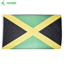 1pcs Jumbo 90*150 Jamaica Flags And Banners Polyester Be Proud & Show off Your Patriotism Wholesale Decoration