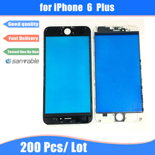 For iPhone 6 Plus 200pcs free DHL AAA Quality LCD Touch Screen Outer Front Glass Lens with Frame Bezel Assembly Housing Part