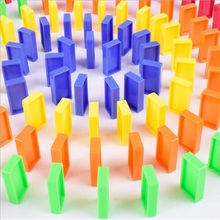 Educational-Toys Domino Blocks Train Plastic Early-Bright Kids Children Color for Gift
