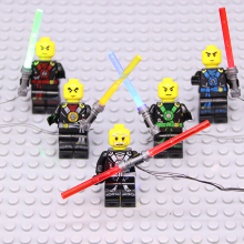 LED light Star Wars lightsaber lego figure Toys lego /pin Force Awakens Nano DIY Toys Children Light Set