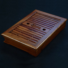 Tea tray African wenge teaboard chicken wing wood puer tea table saucer drawer tray size about 33.5-23.5-6CM(China)