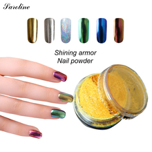 saroline Shinning Mirror Powder lucky colors DIY Sequins Chrome Pigment Nail Art Acrylic Powder Dust Nail(China)