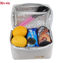 Mrs win Thermo Lunch Bags Cooler Insulated Lunch Bags for Women Kids Thermal Bag Lunch Box Food Picnic Bags Tote bolsa WCB11