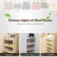 3 4 5 Tier Shoe Rack Shelf Home Storage Organizer Closet Shoe Cabinets DIY Wood Book Shelf For Living Room Furniture
