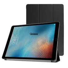 Qosea 2017 New For Apple i Pad Pro 12.9 inch Luxury PU Leather Smart Stand Case For Apple i Pad Pro 12.9 Tablet PC Stand Cover