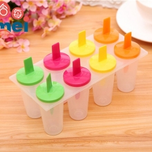 DIY Ice Pop Mold Stick Icy Ice-lolly Cream Set Freezer Ice Cream Cooking Tools 8PCS(China)