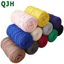 210g/pcs Fancy Yarns For Hand Knitting Thick Thread Crochet Cloth Yarn DIY bag handbag carpet cushion Cotton Cloth T-Shirt Yarn(China)