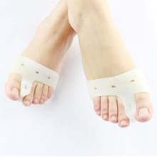1pair=2pics Genuine new special hallux valgus bicyclic thumb orthopedic braces to correct daily silicone toe big bone(China)