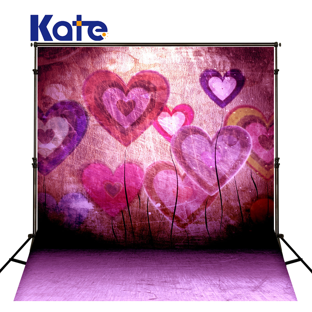 Kate 10x10ft ValentineS Day Photo Background Photography Backdrop Heart Shaped Graffiti Wall Photo Booth Background <br>