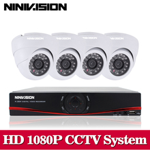 NINIVISION Home HD 1080P HDMI 8CH 1080P Security AHD DVR CCTV Kit  AHD 8 Channel Dome CCTV Kits Security Camera System no HDD