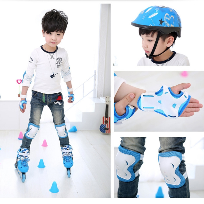 6pcs/set Children Skating Protective Gear Sets Knee Elbow pads Bicycle Skateboard Ice Skating Roller Wrist Knee Protector