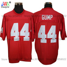 2017 Red Cheap American Football Jersey FORREST GUMP 44 Red Throwback jerseys Retro Stitched Shirts The Movie Jersey(China)