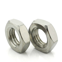 1PCS-M16/M18/M20  DIN439 A2-035 Low Price  304 Stainless Steel Aix Angle Thin Nut Flat Thin Nut