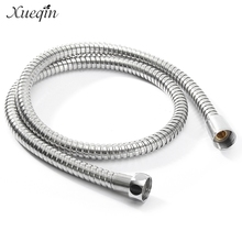 Xueqin 1m/1.5m/ 2m G1/2 Inch Flexible Shower Hose Stainless Steel Chrome Bathroom Water Head Showerhead Pipe