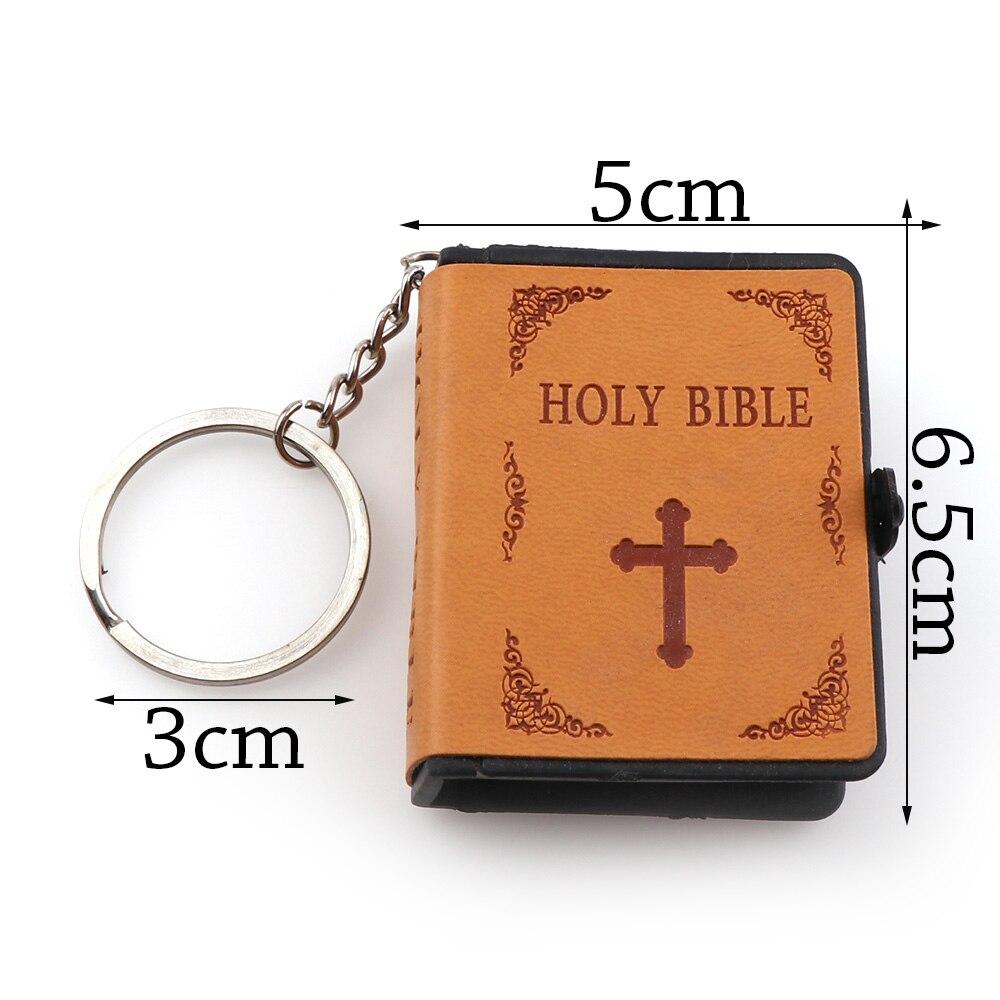 12pcs lot English Version Mini Religious Christian HOLY Bible Mini Leather  holy Bible Englsih Book Keyring Gift 6777895f8f13