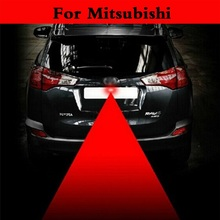 Car Laser Tail Light Safety Led Back Rear Warn Fog lamp For Mitsubishi Mirage Montero Sport Outlander Pajero Mini RVR Space Star