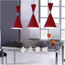 (3pcs/lot) Modern pendant lamp shade American style red lampshades chandeliers and lamps for the kitchen coffee bar counter(China)