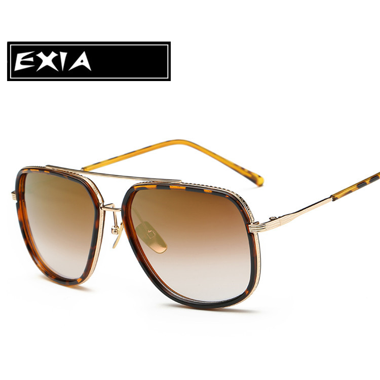 Big Face Sunglasses Gradient Brown Lenses EXIA OPTICAL KD-0735 Series<br><br>Aliexpress