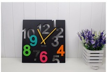 Modern Creative Square 12-inch Wall Clock - 3D White Number Cut-Out Clock(China)