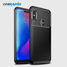 Xiaomi Redmi Note 6 Pro case carbon fiber Shockproof Soft tpu Back Cover case Xiomi Redmi Note 6Pro Phone Cases Note6