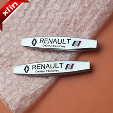 2pcs Newest 3D Renault Koleos KADJAR Fluence TALISMAN MEGANE SCENIC logo Car Sticker side Badge rear trunk decoration Emblem(China)