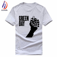 Punk Band Green Day Print T shirt 2017 Summer 100% Cotton American Idiot T-shirt Men and Women Fitness Tshirt Tops,GP024