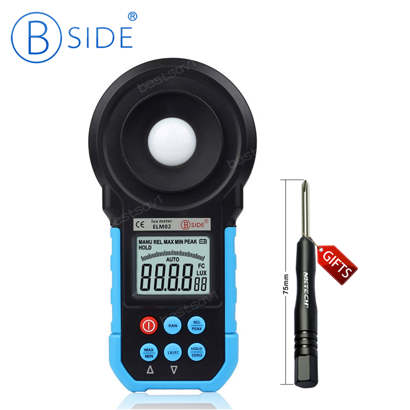 200000 Lux Professional Digital Light Meter Luxmeter Meters Luminometer Photometer Lux/FC ELM02<br>