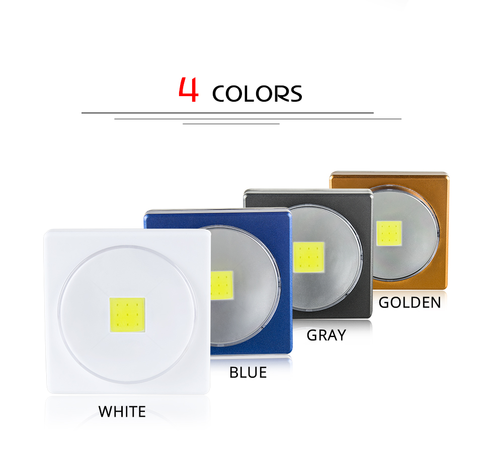 LED Desk Light Battery Powered Magnets COB With Switch Reading Book Lights _ (2)