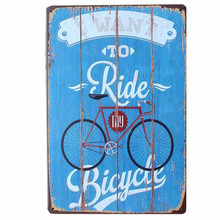 RIDE BICYCLE Retro Metal Craft Tin Signs BAR Pub Home Decor Wall Posters Decoration Beer Plates Endless Summer MIX Order N099