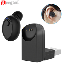 Mini Bluetooth Earphone Smallest Wireless Headset Earbud invisible earpiece with Mic usb adapter for iPhone 7 Plus Android Phone