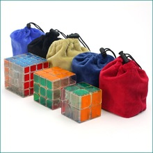 Cheap Protective Bag For 2x2x2 3x3x3 4x4x4  Magic Cube Puzzles Flannel Bags Protection Pouch 1PC