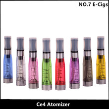 5pcs/lot New CE4 atomizer eGo Atomiser Clearomizer for Ego Electronic cigarette e cigarettes 1.6ml 8 Colors Free Shipping